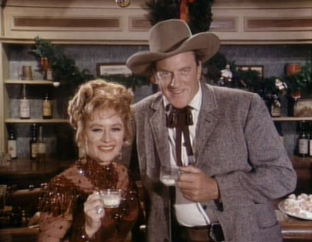 Gunsmoke: P.S. Murry Christmas - 1971 - Miss Kitty and Marshall Dillon  (With images) | Miss kitty, Gunsmoke, James arness