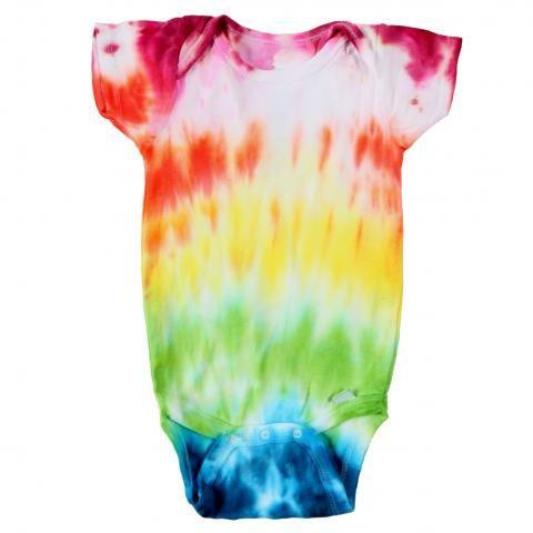 Confetti Spray Dye Folding Technique Onesie® summer crafts