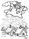mother hulda mother holle coloring page holle any sznez