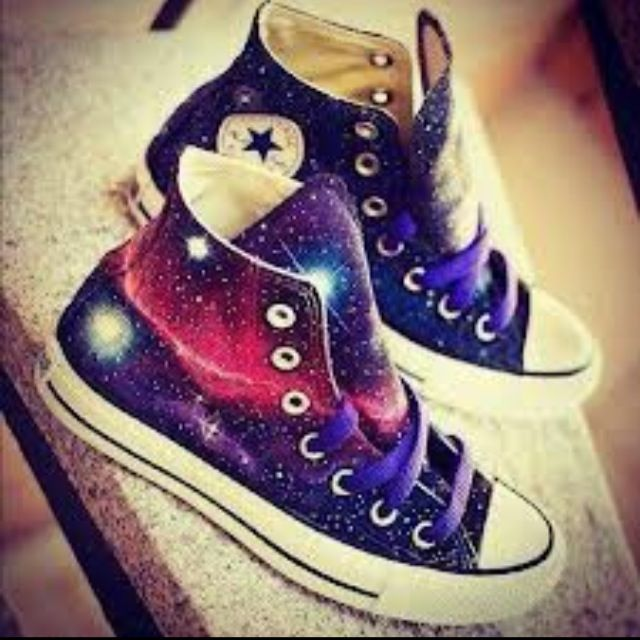 galaxy themed converse | Galaxy shoes
