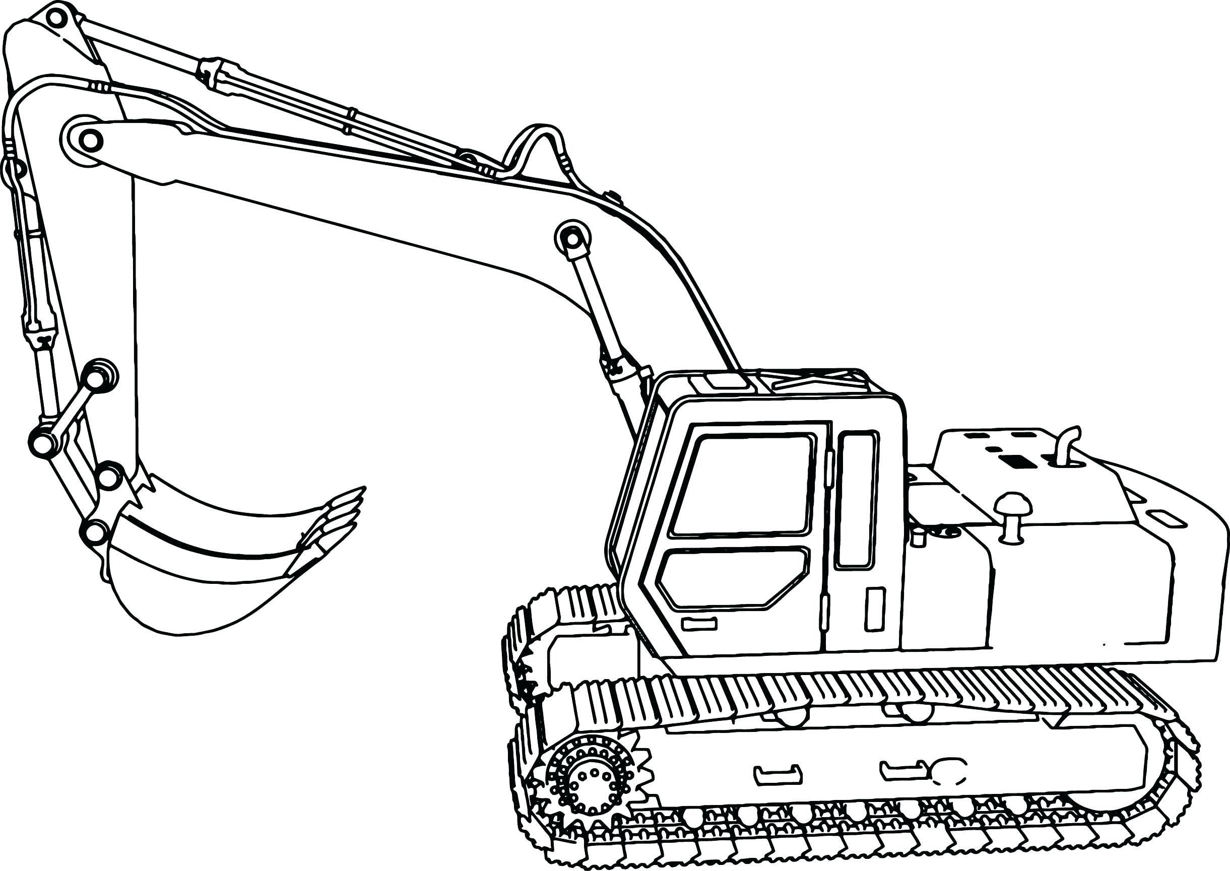 Focus Excavator Coloring Page John Deere Pages