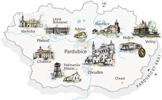 Vysledek Obrazku Pro Mapa Pardubicky Kraj Zemepis Obrazky Krajina