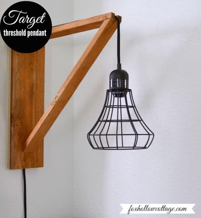 Bathroom Light Fixtures Target wood pendant light | http://thesawdustdiaries/wood-pendant