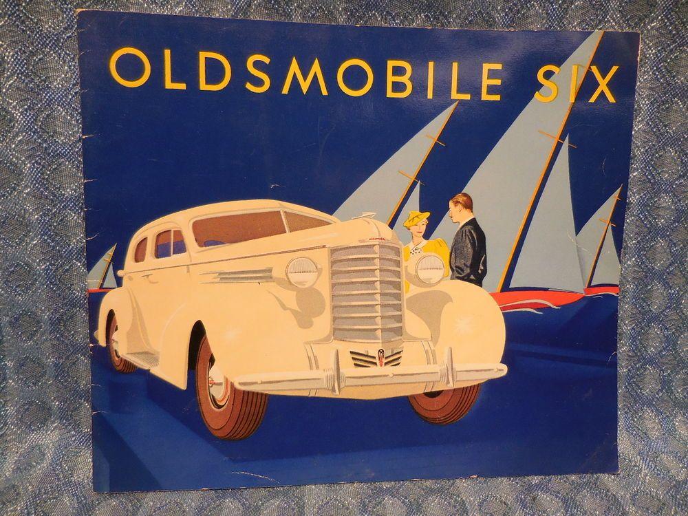 1937 Oldsmobile 6 Cylinder Models Original Full Color Sales Brochure Oldsmobile Oldsmobile Sales Brochures Brochure
