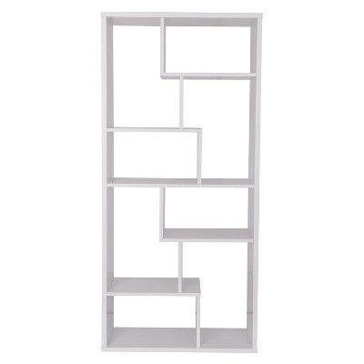 Decorative Bookshelf 71 White Acme Furniture