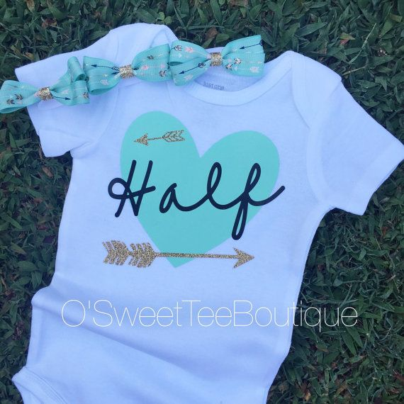 3b0e2f4a Its my 1/2 Birthday Onesie/ Half Birthday/Baby Girl Headwrap/ Arrow ...