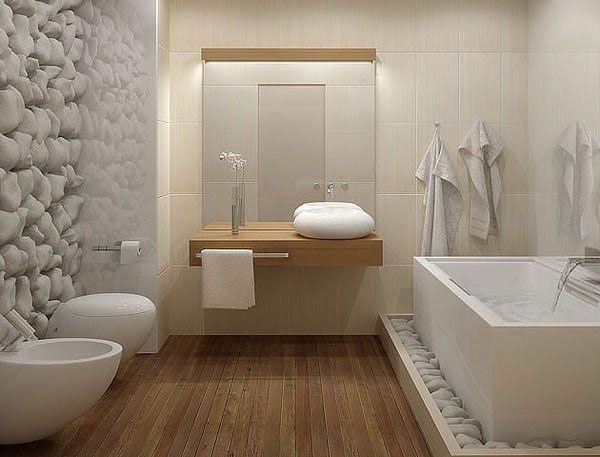 salle de bain nature entre pierres