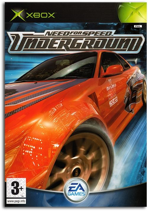 Need For Speed Underground Poster Xbox Game Cover Need For