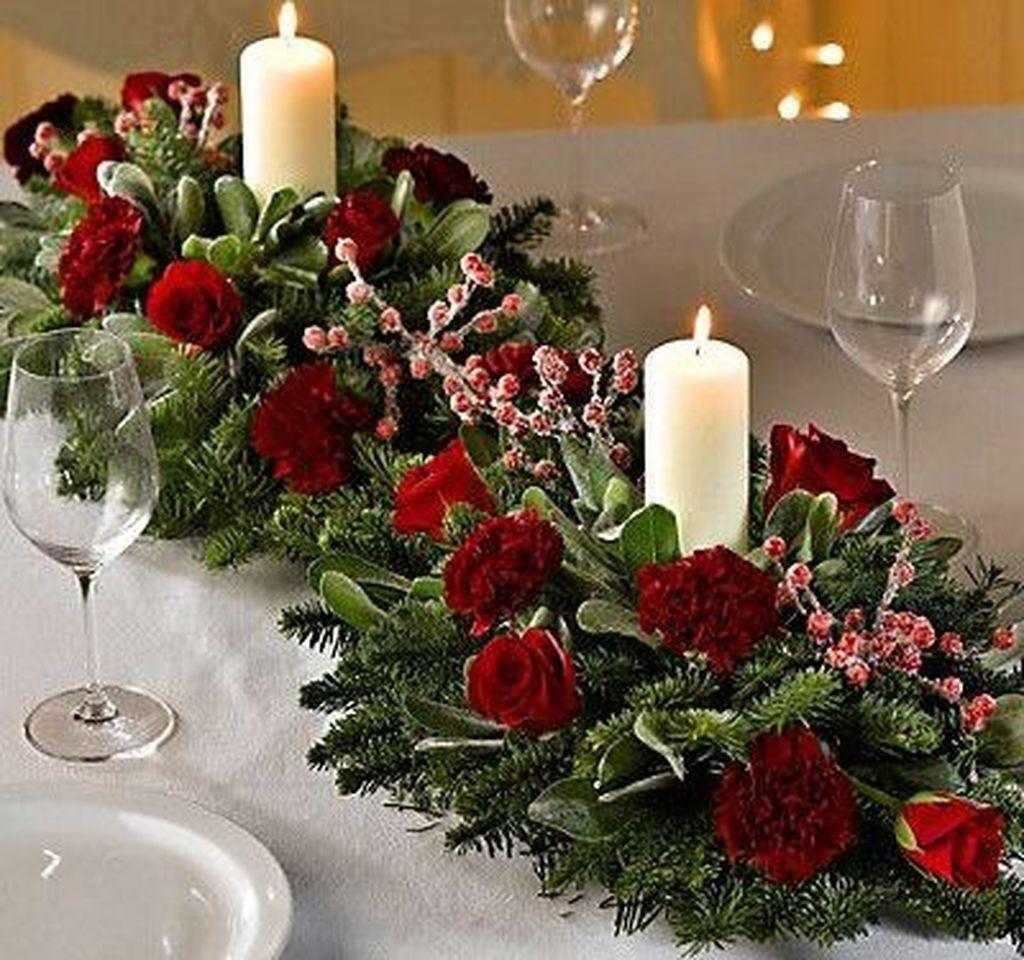 50 Amazing Christmas Table Decoration Ideas For 2018 In 2020 Christmas Table Centerpieces Christmas Centerpieces Christmas Floral Arrangements