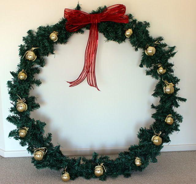 Giant Christmas Wreath Christmas Wreaths Diy Large Christmas Wreath Christmas Wreaths