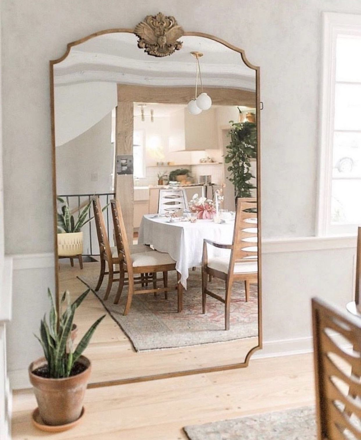 Full Size Mirror In Dining Room Mirror Dining Room Home Home Decor