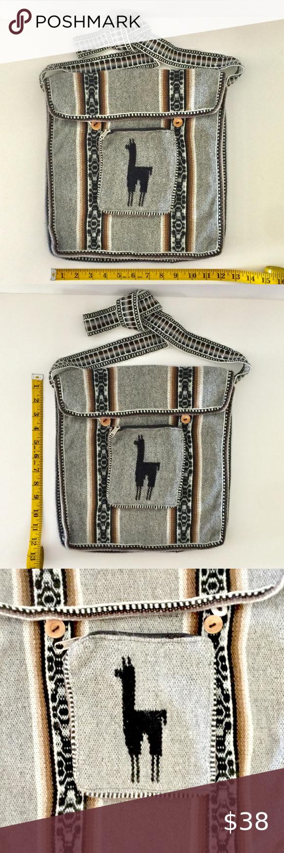 Peruvian Morral Crossbody Shoulder Bag Alpaca Wool In 2020 Shoulder Bag Crossbody Shoulder Bag Bags