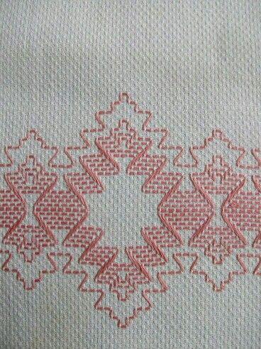 huck embroidery punto yugoslavo swedish weaving bordado