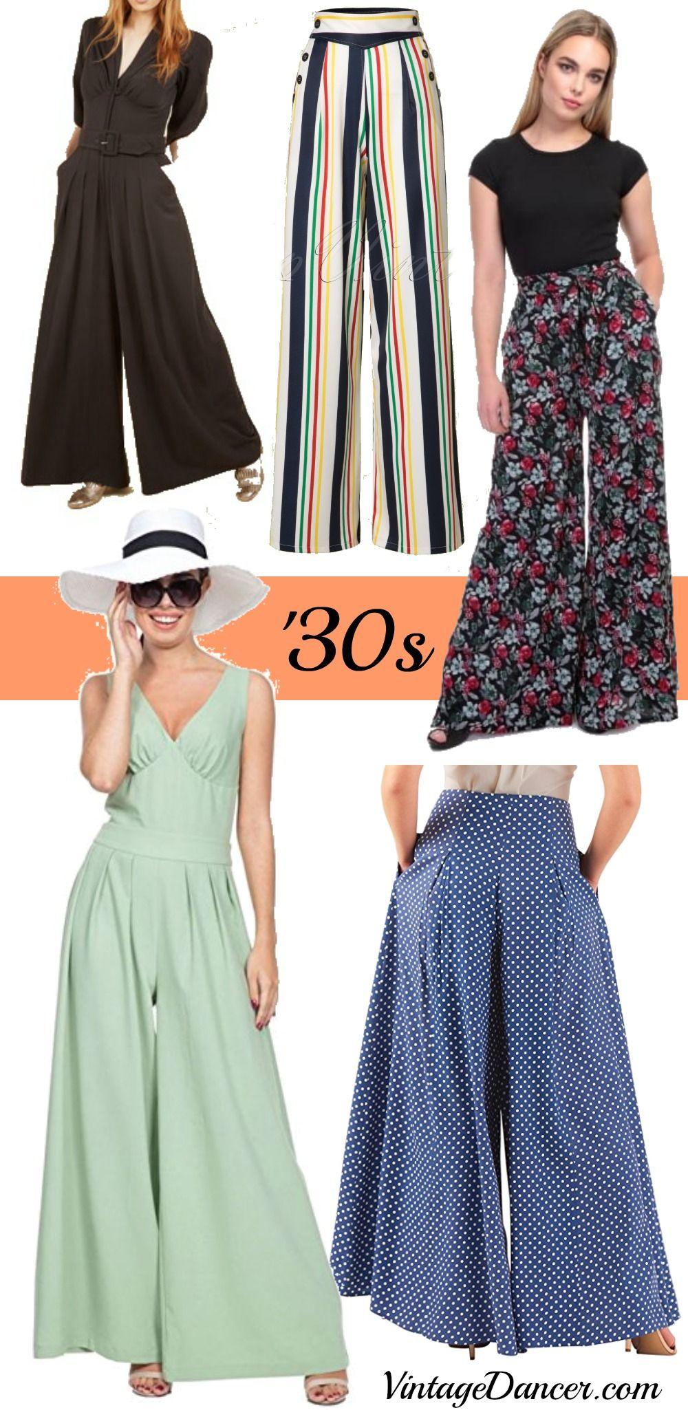 9ffedb073ca6 1930s Women s Pants and Beach Pajamas