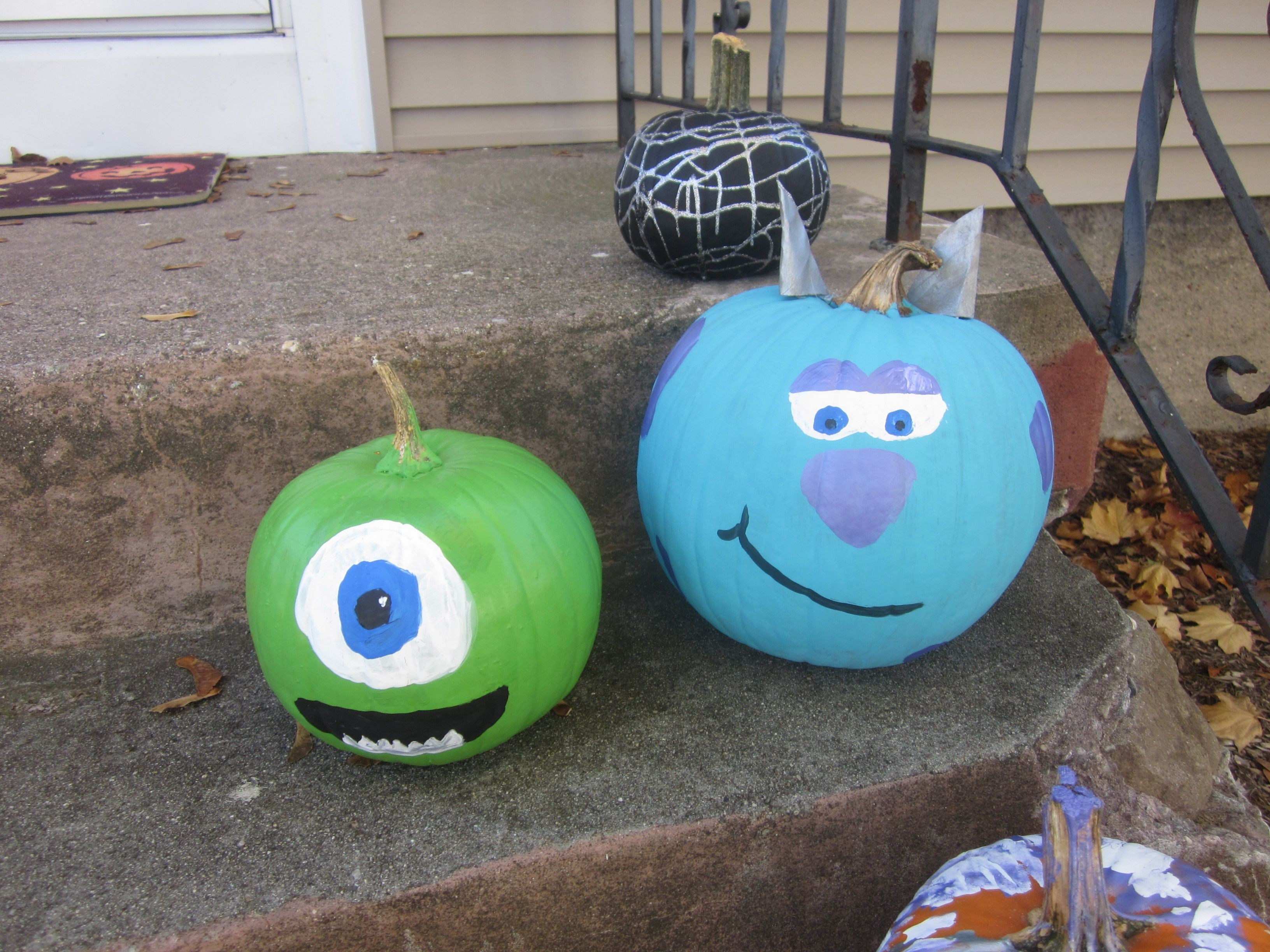 Sully And Mike Wazowski Pumpkins Monsters Incmonsters University