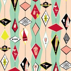 Black Background Printed Curtain Fabric 1950 Google Search