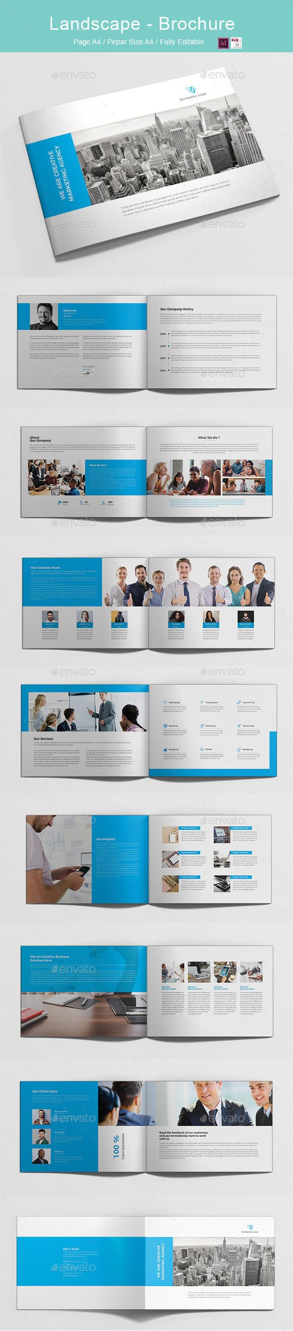 A4 Landscape _ Brochure   Grafikdesign und Ideen