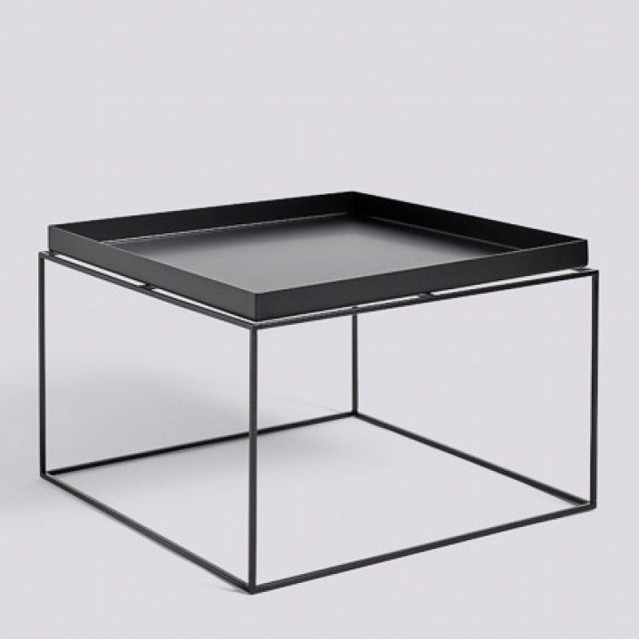 HAY Tray Coffee Table Black 60x60 cm | czarna stal | Hay tray table