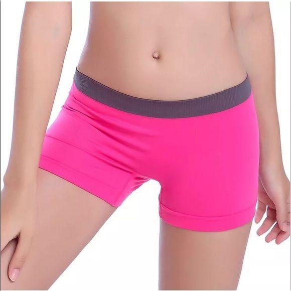 Yoga Workout Shorts  NWT / Colored Seamless Stretch Shorts Solid Spandex Workout Basic Plain Tight Yoga Shorts / One Size Super Stretch I Viestin Shorts