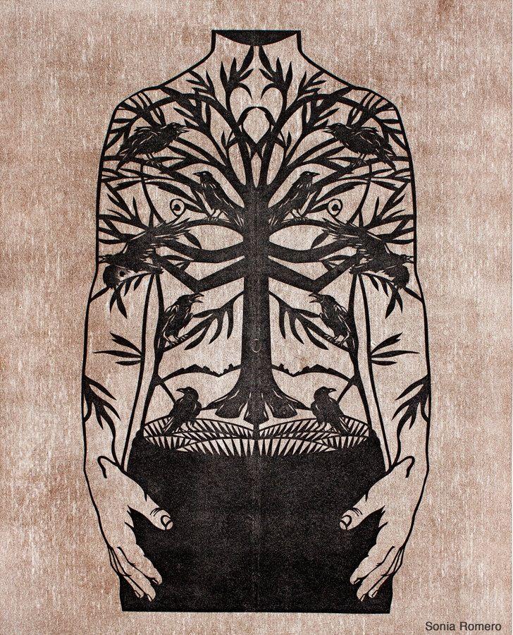 Tattoo paper cut