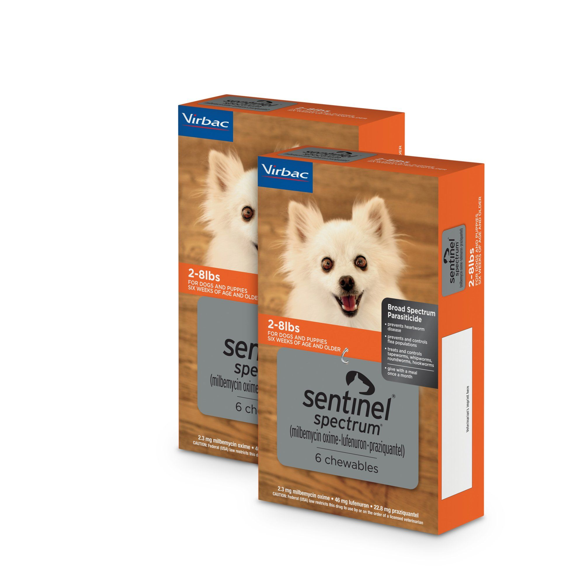 Sentinel Spectrum Chewables For Dogs 2 To 8 Lbs 12 Pack 12 Ct