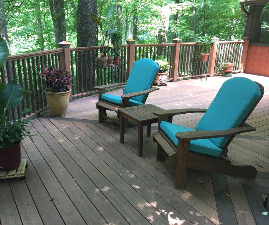 Adirondack Chair Kussens.Custom Adirondack Cushions Featuring Outdura Sierra Turquoise