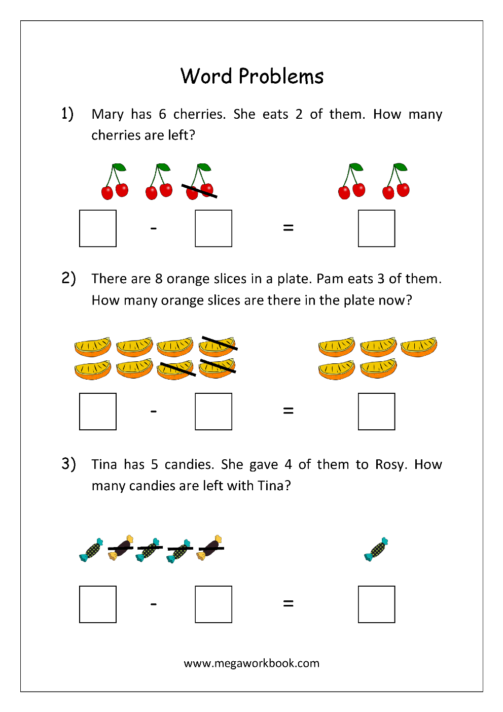 math worksheet story problems word problems subtraction maths worksheets for. Black Bedroom Furniture Sets. Home Design Ideas