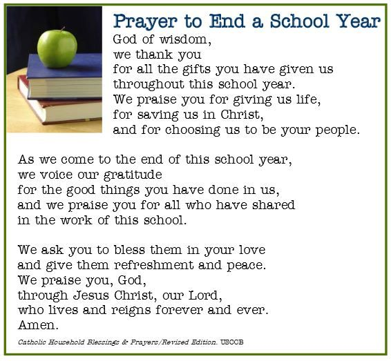 Image result for end of school prayer