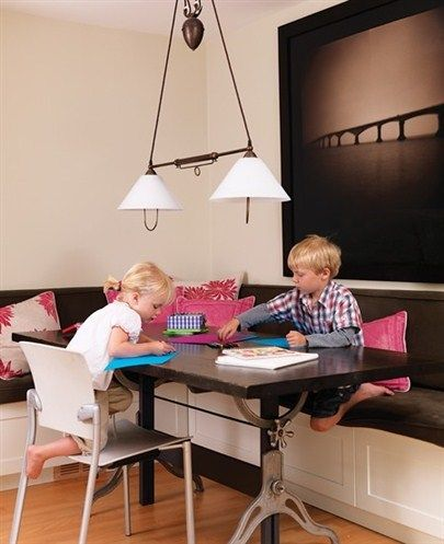 Kid Friendly Dining Room With Benches And Storage Great For A Formal