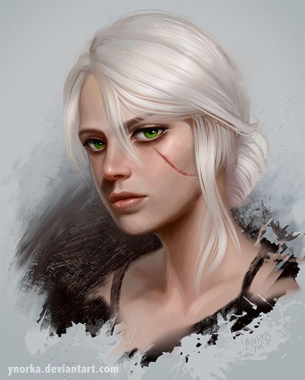 ciri witcher 3 by ynorka deviantart com on deviantart