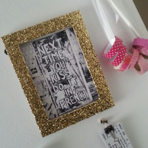 My Fave Diy Glitter Frames Decoration Idees Cadeaux Cadeau