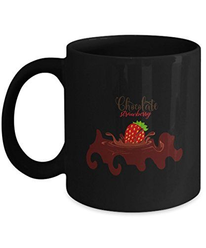 chocolate ceramic coffee mug best gift for food lover https