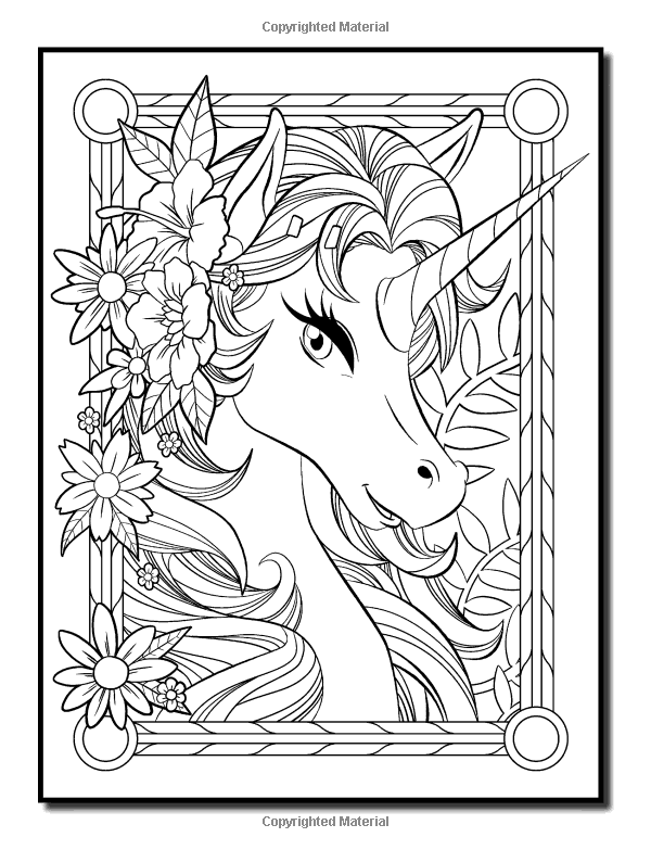 unicorn adult coloring pages Amazon.com: Unicorn Coloring Book: An Adult Coloring Book with Fun  unicorn adult coloring pages