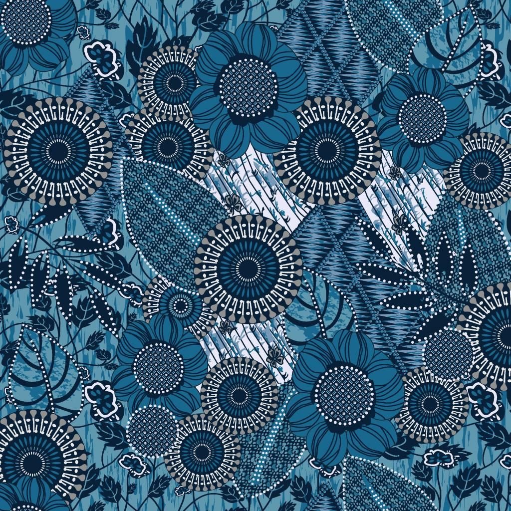 HD Blue Flowery Pattern Ipad Wallpaper List Of Blue