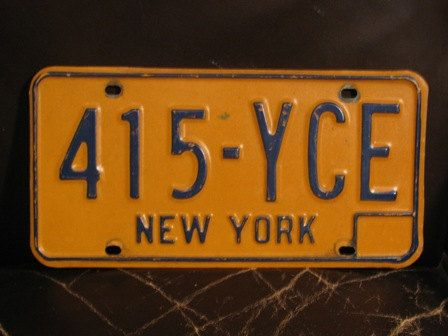 License Plate 1960s New York License Plate Wall By Theidconnection