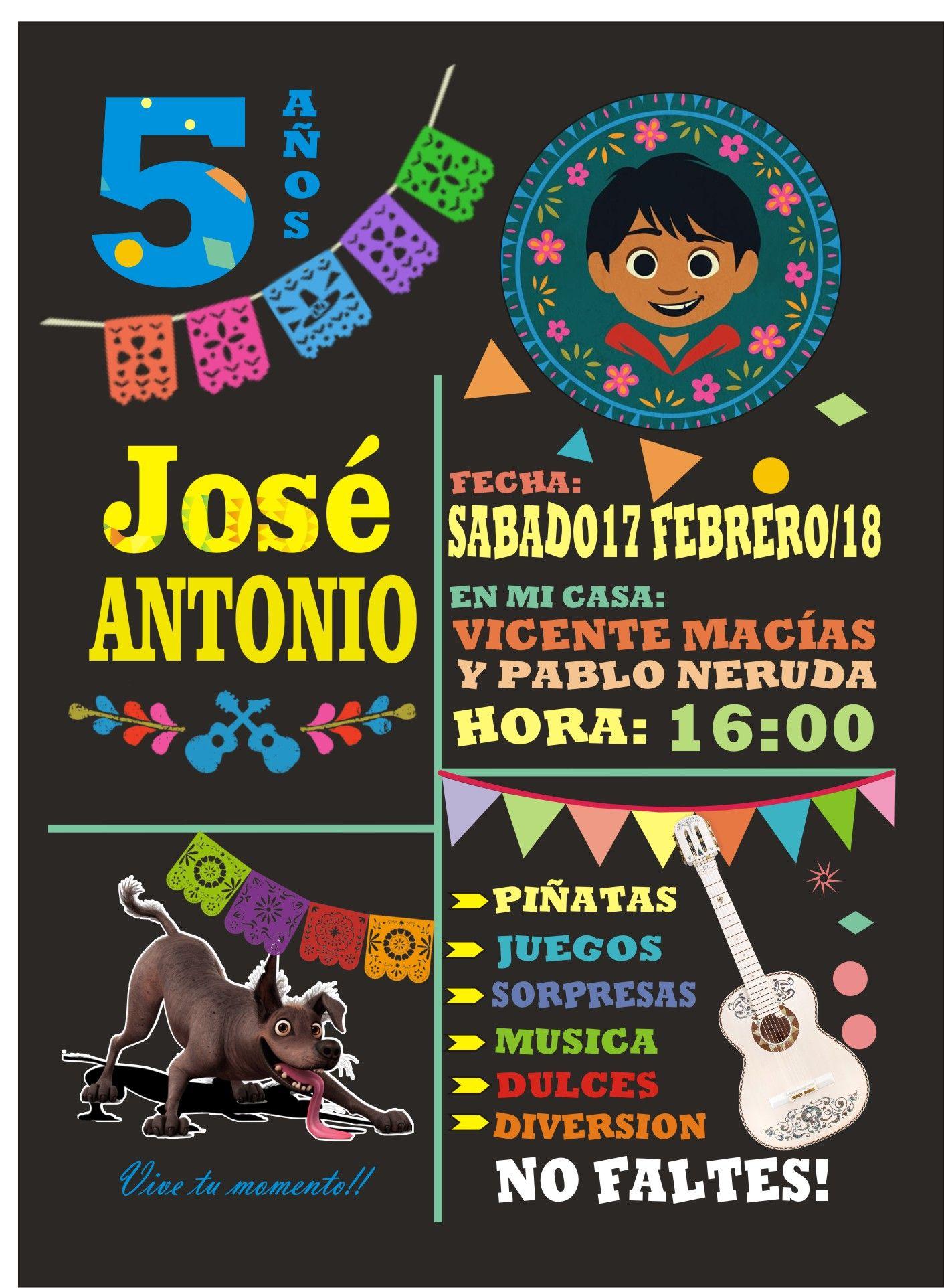 Cumple Martina 5 Fiesta De Coco Invitaciones Mexicanas