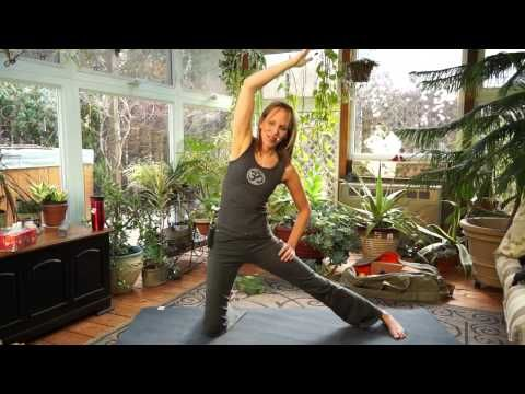 beginner yoga triangle pose/trikonasana namaste yoga 156