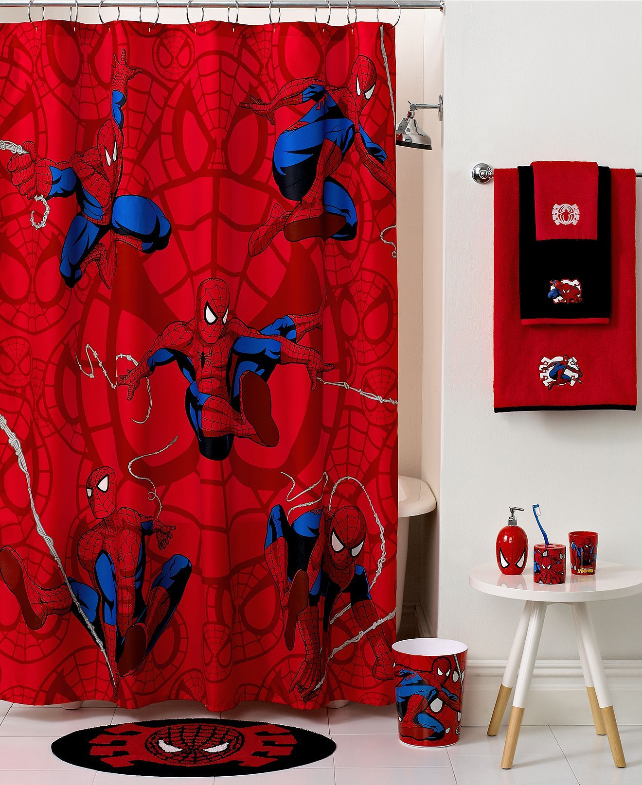 Marvel Bath Spiderman Sense Collection Kids Bath Bed