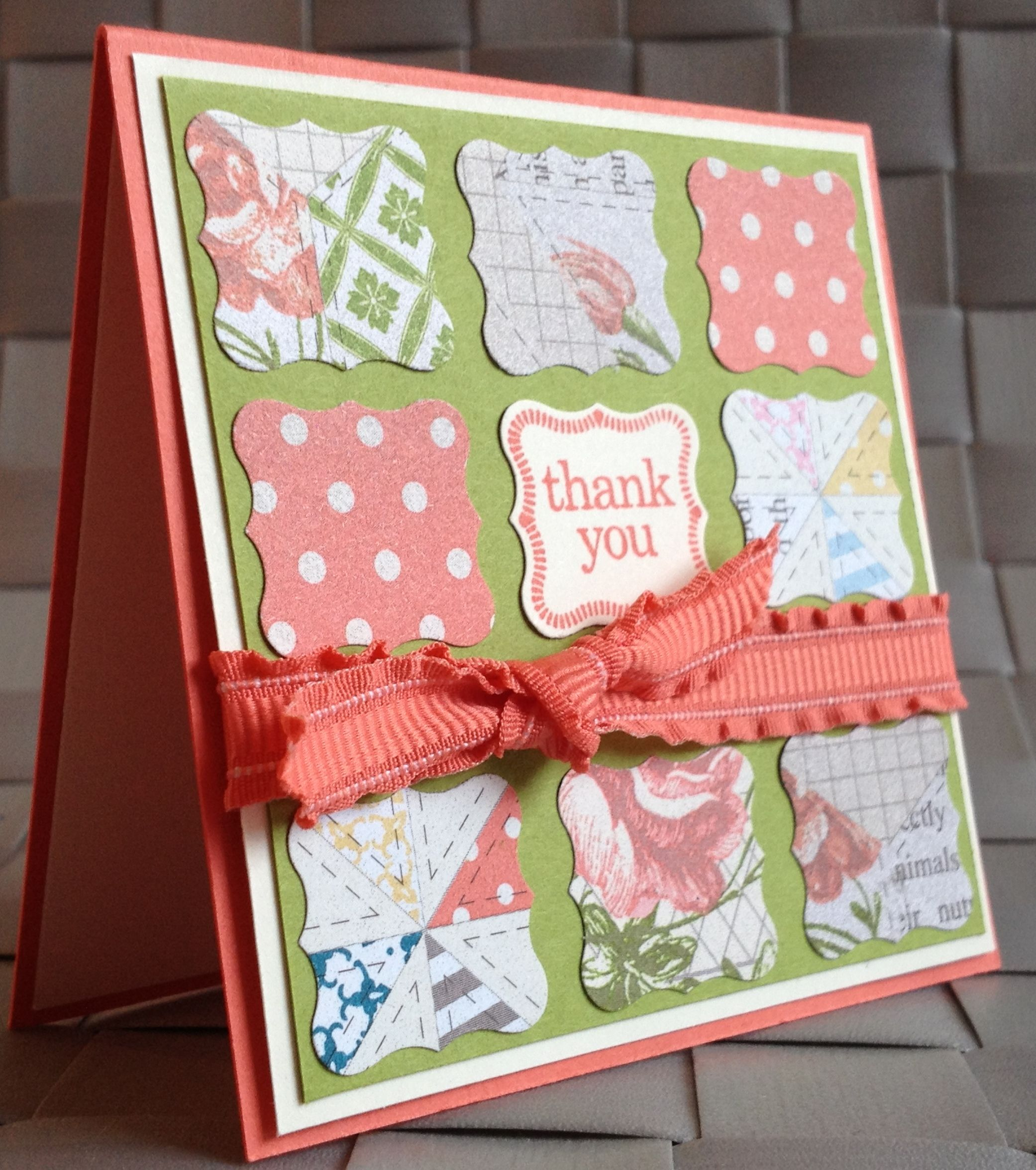 Stampin up card gallery calypso coral floral mini card