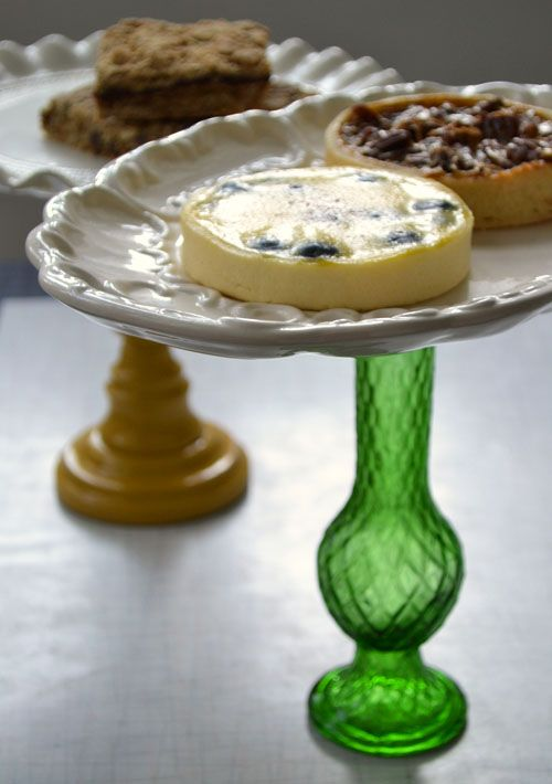 Make your own cake stands!