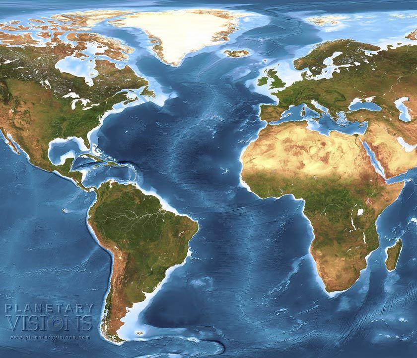 Mid Atlantic Ridge Satellite Maps Globes Map Globe Geology Globe
