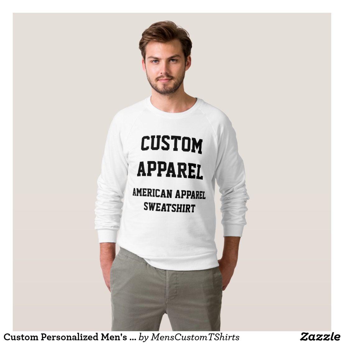 Custom Personalized Men's RAGLAN SWEATSHIRT