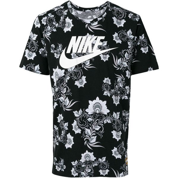 Nike logo print T-shirt ( 54) ❤ liked on Polyvore featuring men s fashion 0498e5515