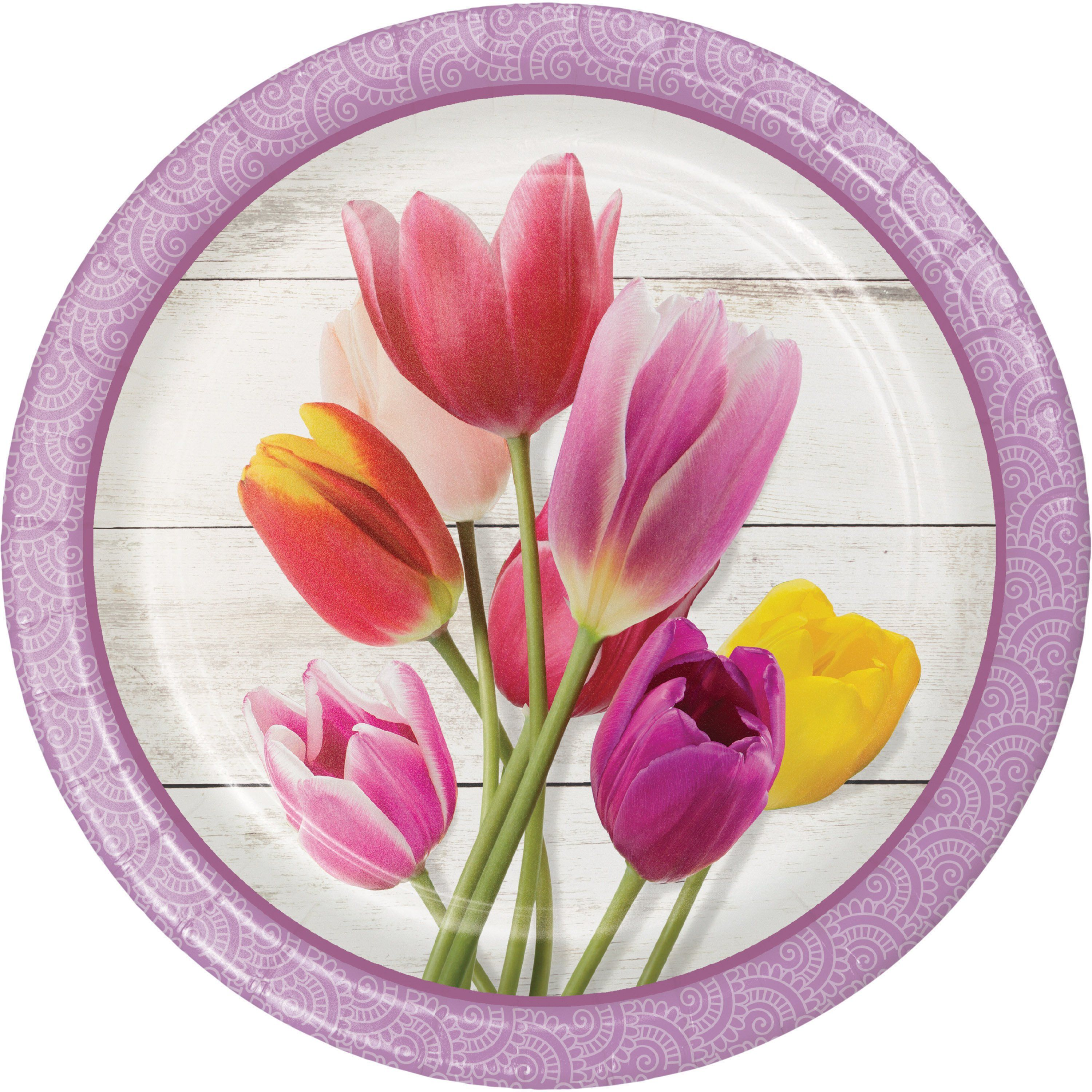 Beautiful Blossoms 8 3 4 Dia Paper Dinner Plate Case Of 96