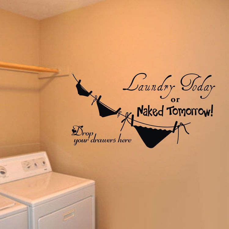 Funny Laundry Room Vinyl Home Quotes Wall Stickers Diy Removable