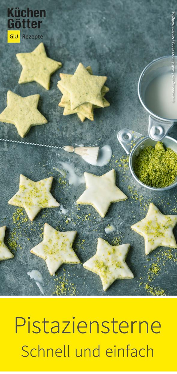 Pistatzien-Sterne Rezept | schnelle Kekse