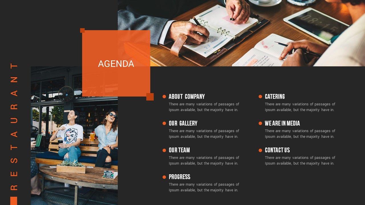 Restaurant Google Slide Presentation Template #Google