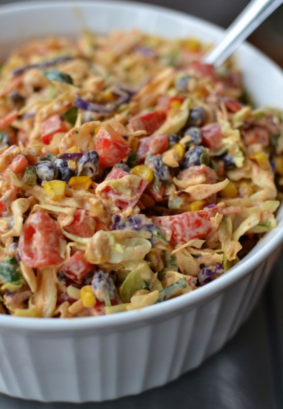 Easy Mexican Coleslaw #mexicandishes