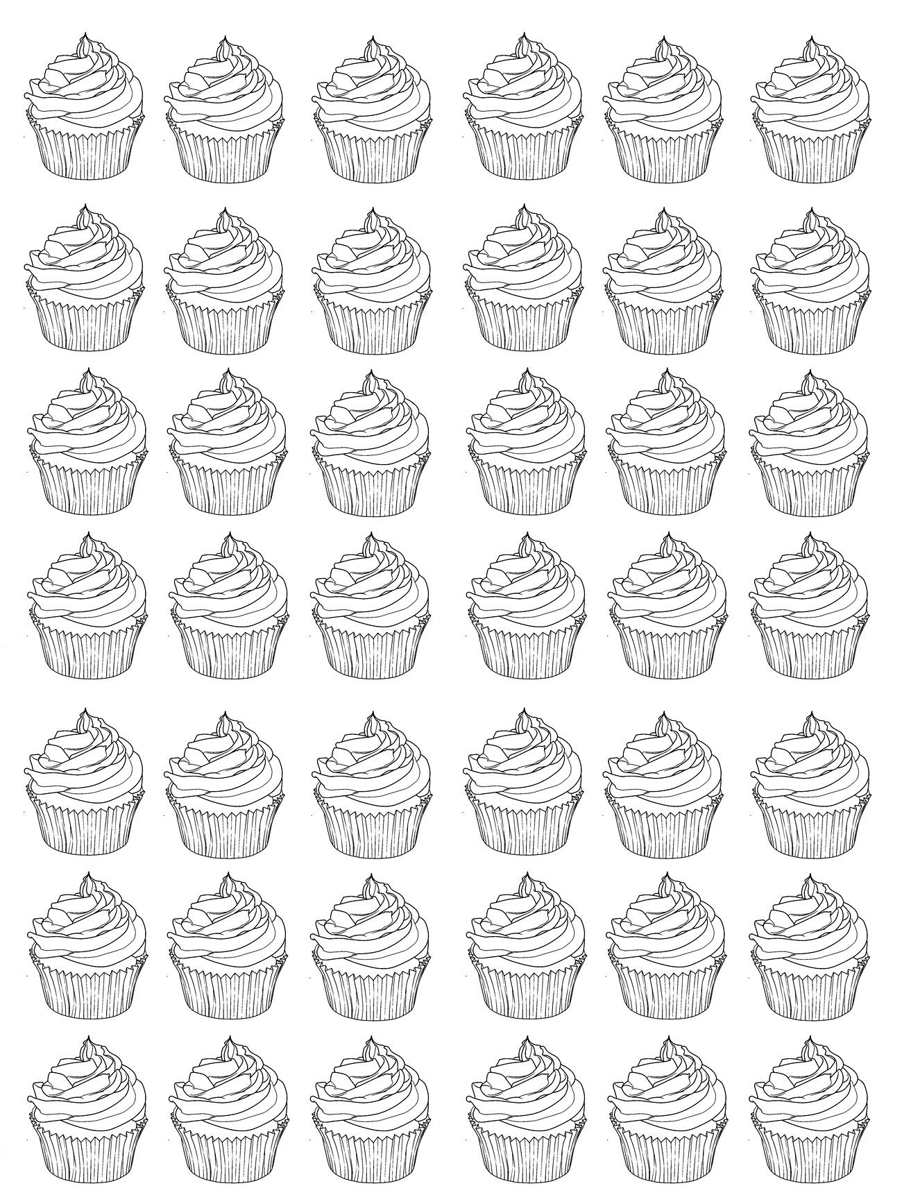 - Cupcakes And Andy Warhol - Cupcakes And Cakes Coloring Pages For