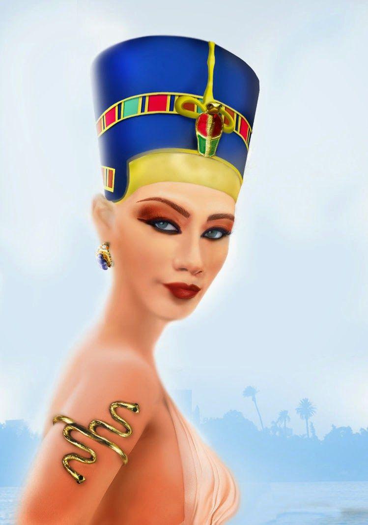 Nefertiti Crown Costume Beautiful Queen Nerfertiti Nefertiti Queen Nefertiti Egyptian Era